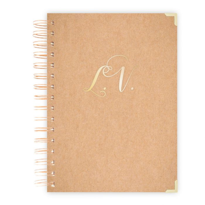 brown craft notebooks personalised notebook