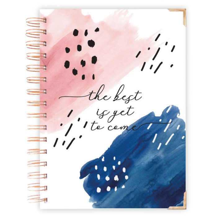 The best yet to come Hardcover Notebook blue pink rain