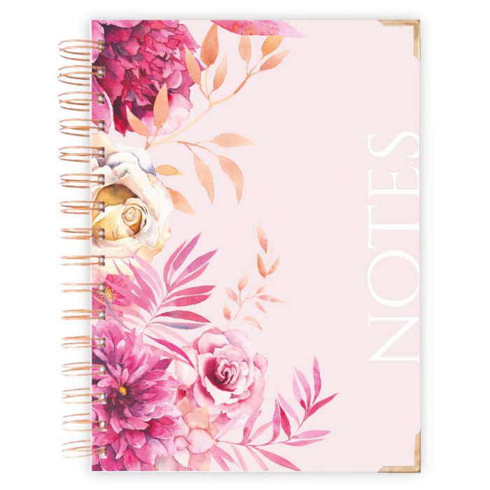 Pink Roses Notebook Hardcover