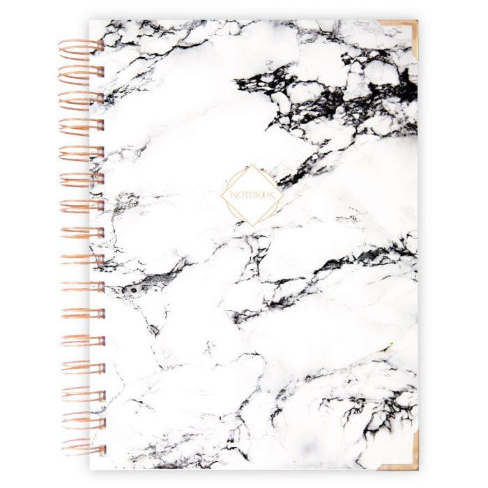 Marmor schwarz weiss Notizbuch, Planer