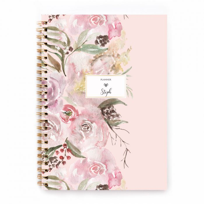 Pink Blumen Floral Planer Calendar Notizbuch Kalender