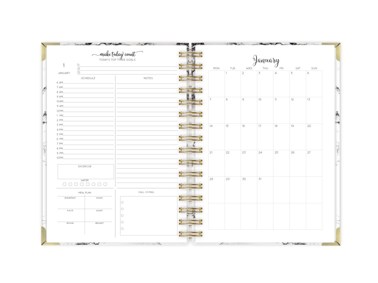 your name on cover 2019 2020 2021 18-month personalized planner calendar start any month