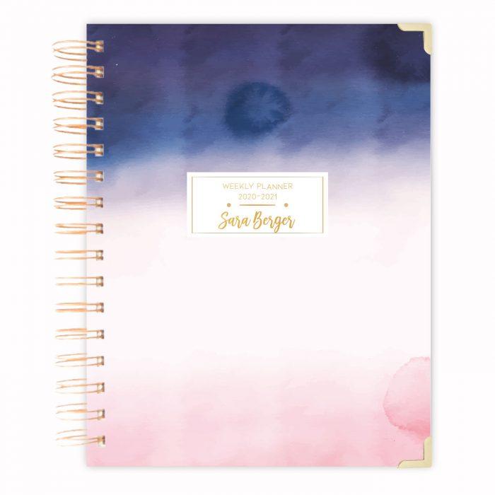 2020 planner calendar diary agenda 2020-2021 planner watercolour planner