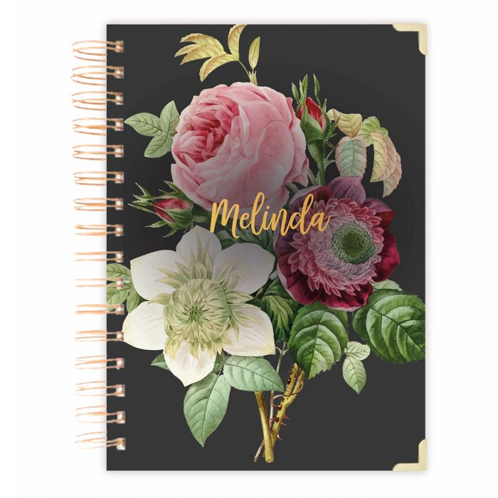 Daily planner notebook bullet journal diary floral diary