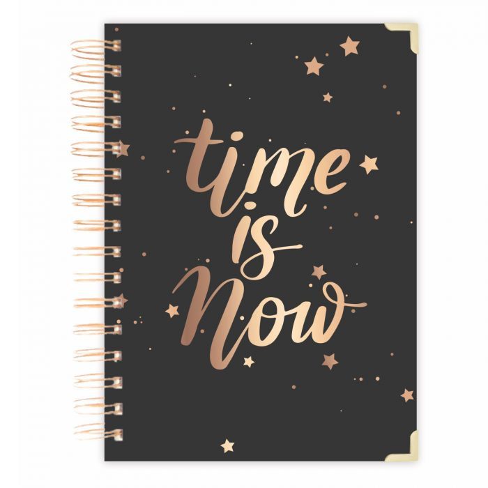 time is now Daily planner notebook bullet journal diary personalised diary