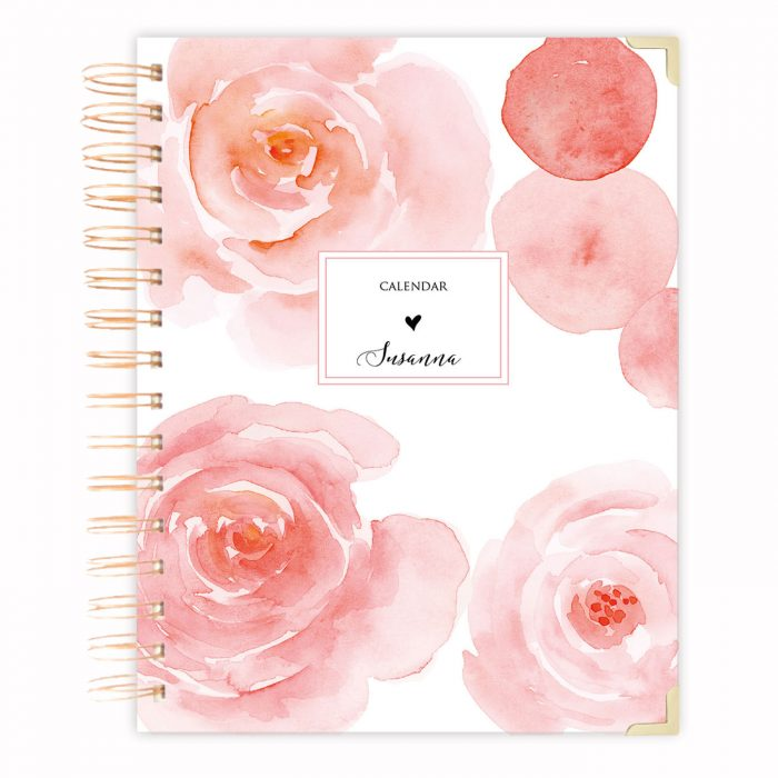 golden A5 rose diary A5 spiral planner diary agenda