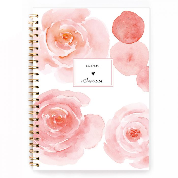 golden A5 diary A5 spiral planner diary agenda