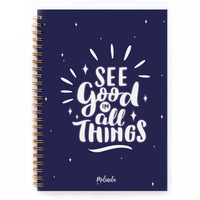 see good in all things notebook personalised gift planner