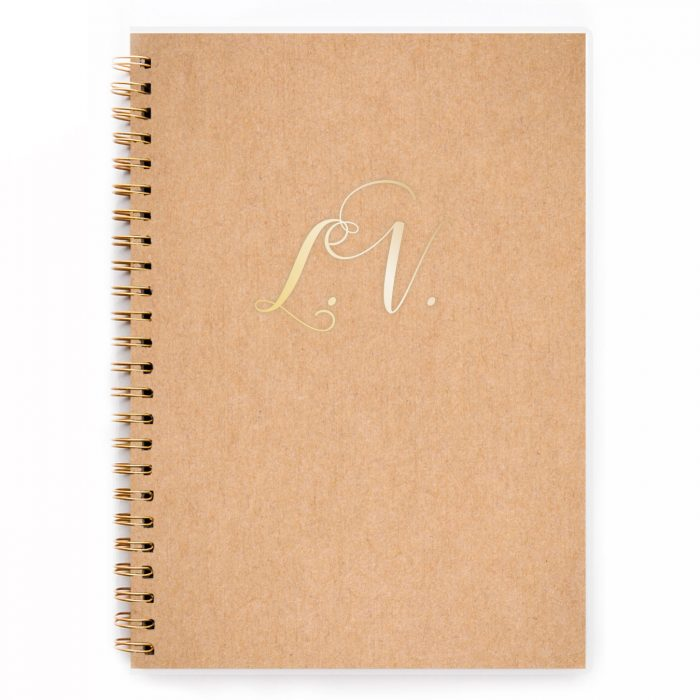 brown craft notebooks personalised notebook p