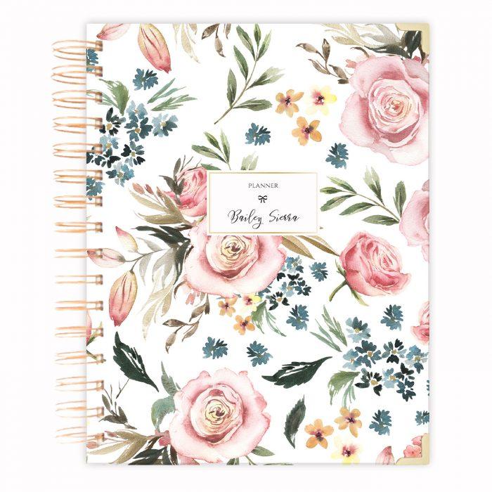 golden hardcover planner A4 spiral planner diary agenda