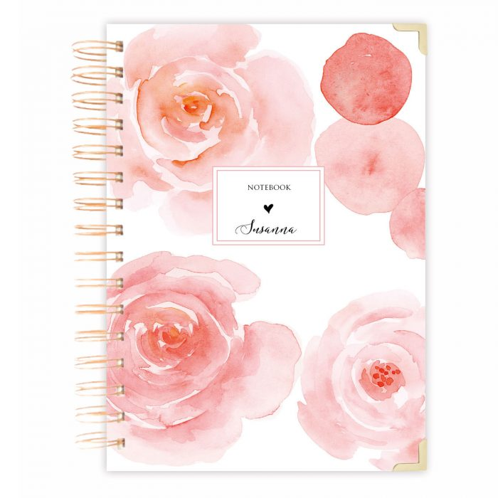 rose notebook A5 notebook journal bullet journal
