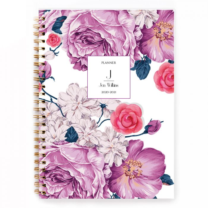 golden softcover planner A5 spiral planner diary agenda